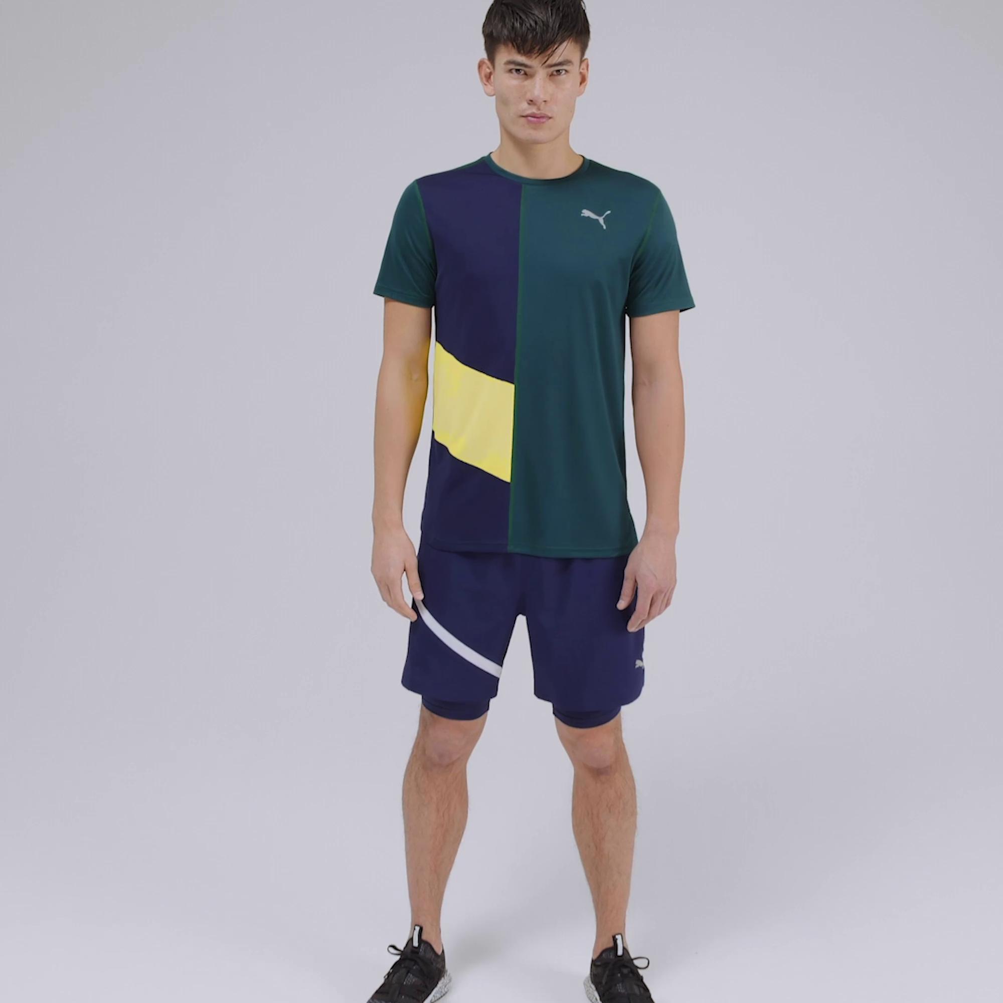 Imagen PUMA Shorts de running de malla tejida 2 en 1 Ignite para hombre #7
