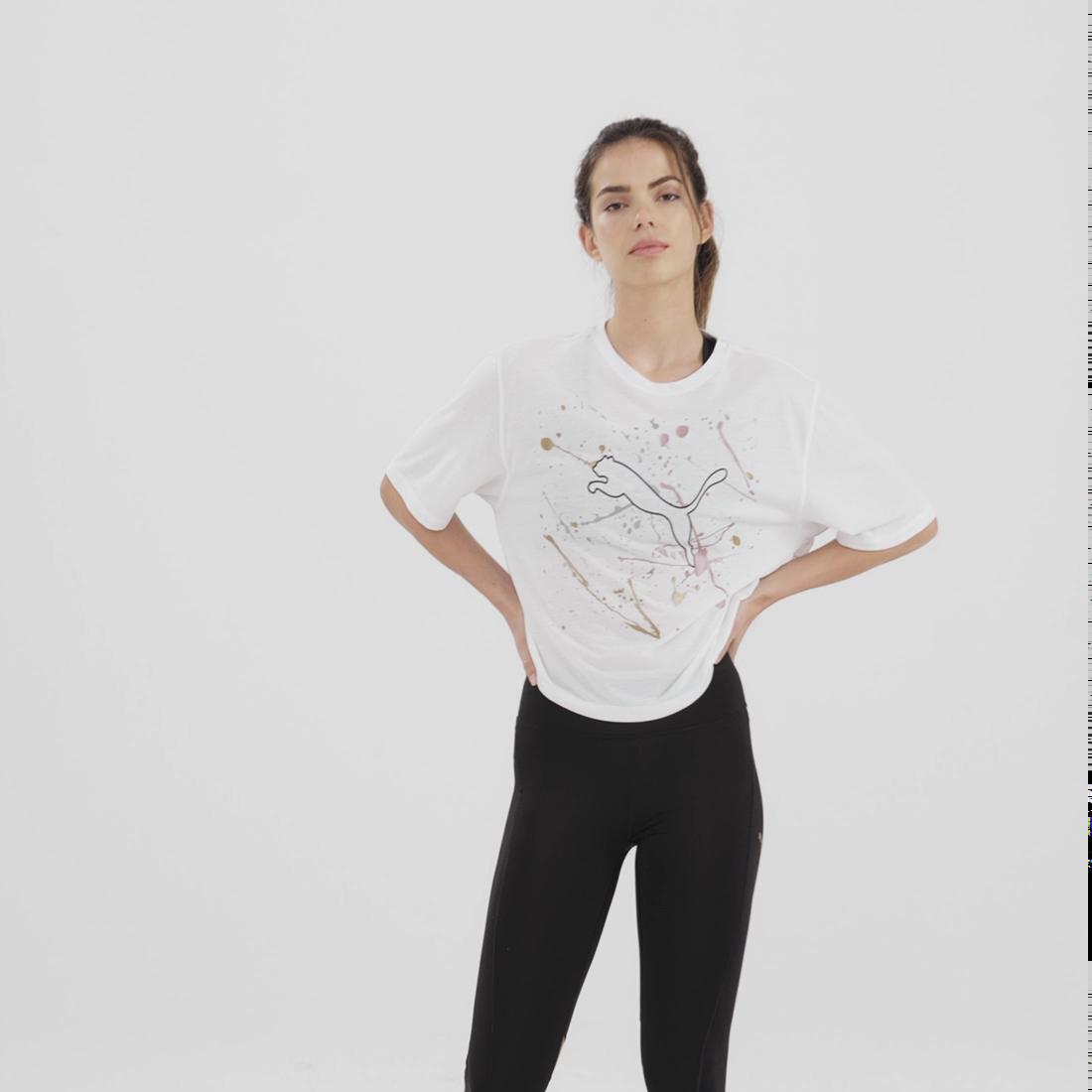 Görüntü Puma Metal Splash Desenli Antrenman Kadın T-Shirt #6