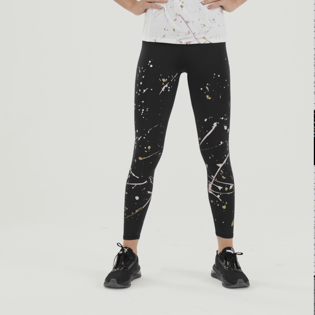 Image PUMA Metal Splash Splatter Women's Training Tights #6