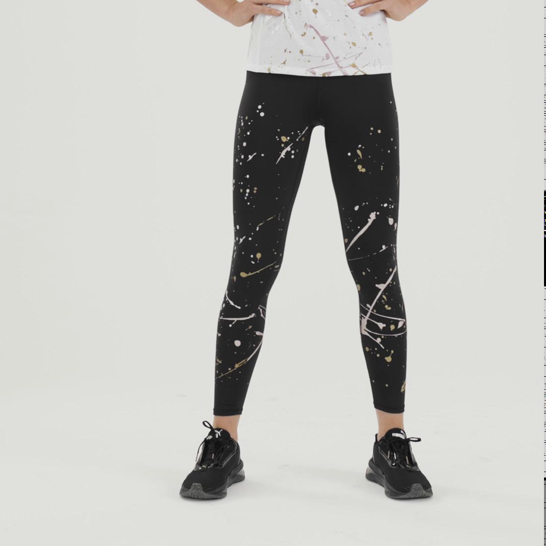 Imagen PUMA Calzas de training Metal Splash Splatter para mujer #6