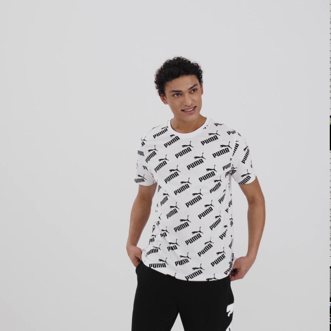 Görüntü Puma AMPLIFIED Desenli Erkek T-Shirt #6