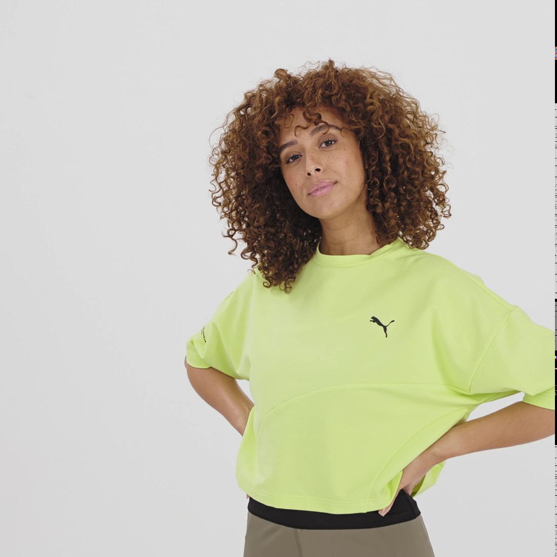 Görüntü Puma EVIDE FORMSTRIP Kısa Kesim Kadın T-Shirt #8