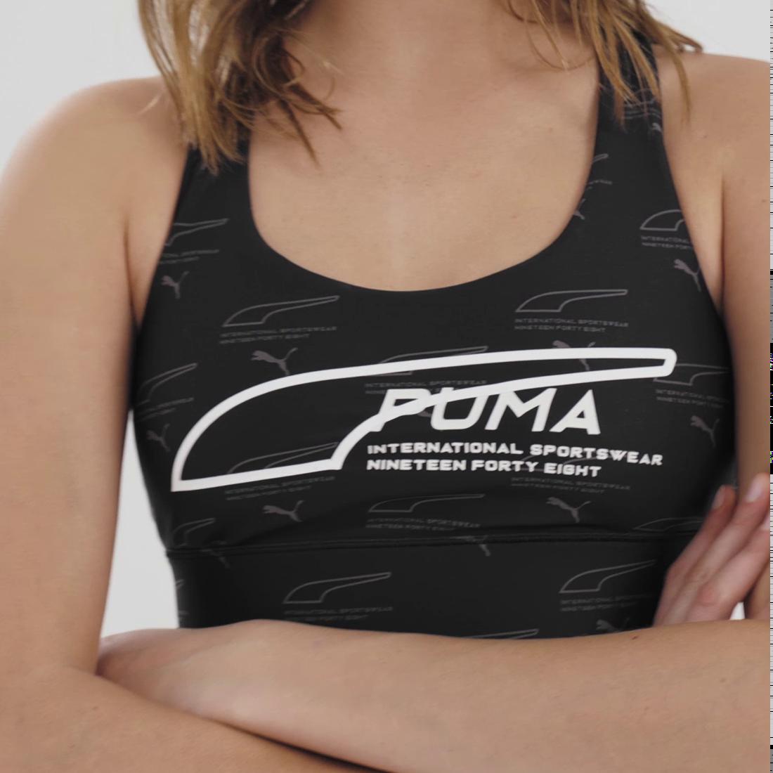 Imagen PUMA Top corto sin mangas Evide para mujer #7