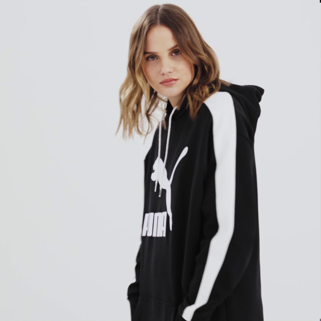 Image Puma Classics T7 Hooded Women's Dress #7